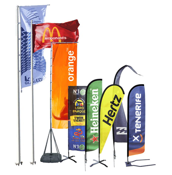 Banderolas y banderines publicitarios