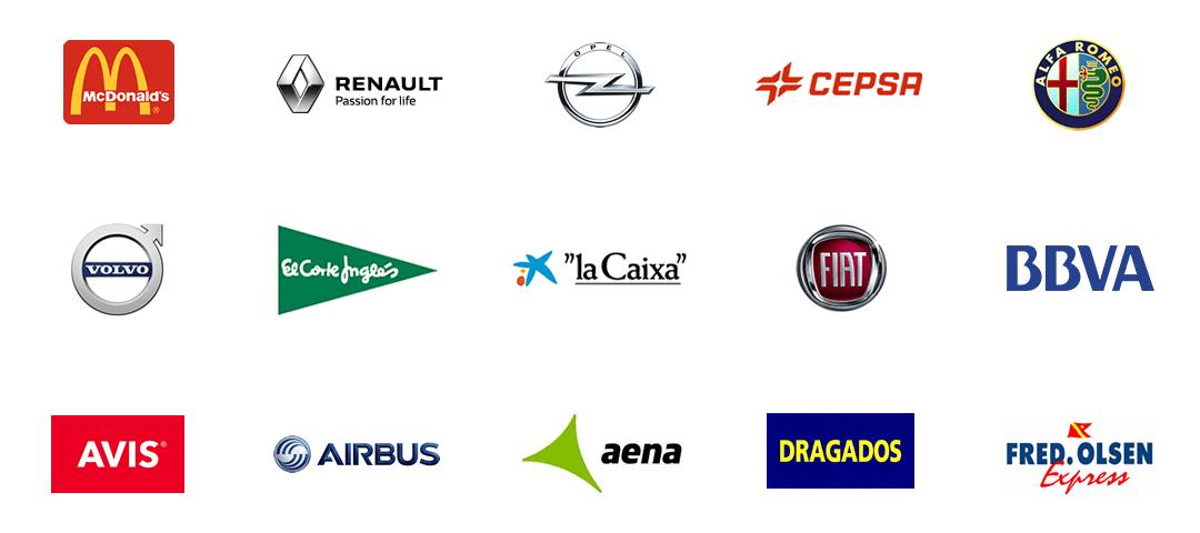 Empresas que han contado con nuestras banderas personalizadas