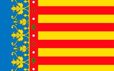 Historia de la bandera de la Comunidad Valenciana y sus provincias.