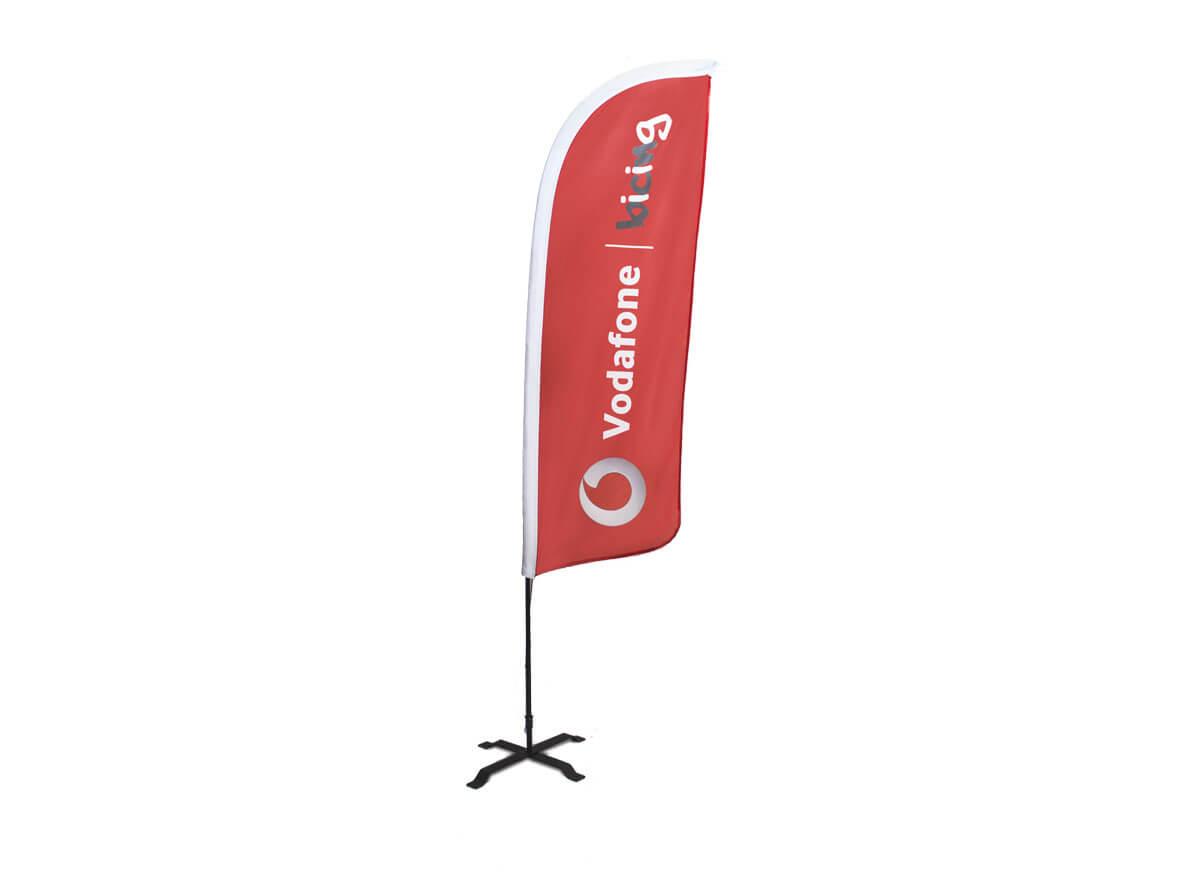 Flybanner modelo vela Vodafone