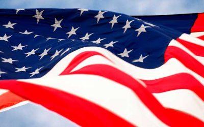 La bandera de Estados Unidos, el símbolo del orgullo americano.